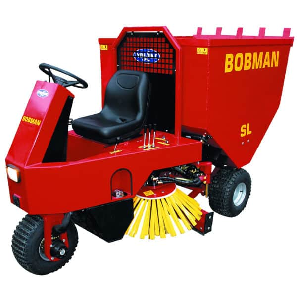 BOBMAN Machines spreader, scraper, sweeper and feed turning machine.
