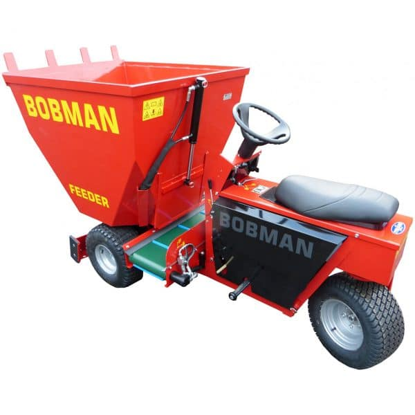 BOBMAN Machines spreader, scraper, sweeper and feed turning machine (top 3/4 view).