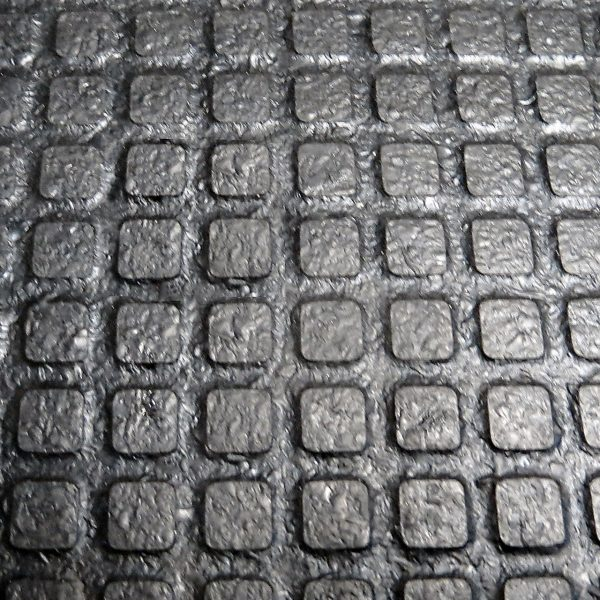 The surface of Kraiburg KARERA entry-level, high quality rubber flooring.