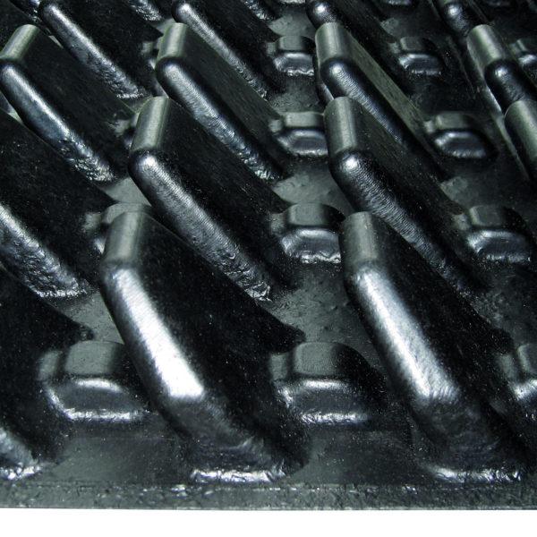 Kraiburg WELA LongLine rubber stall mat bottom lamellen.