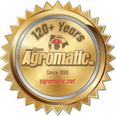 Agromatic 120+ Years gold seal.