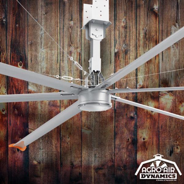 Agro Air Dynamics: HVLS Fan, recirculating air flow ceiling fan.