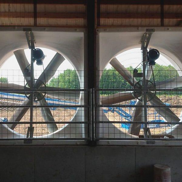 Belt Drive Exhaust Fans inside (back) view.