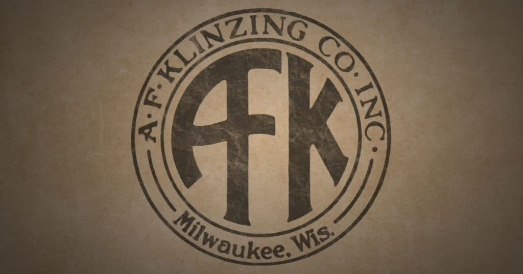 "A.F. Klinzing Co. Inc. Milwaukee, Wis. ""AFK"" logo."