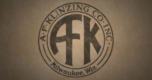 """A.F. Klinzing Co. Inc. Milwaukee, Wis. """"AFK"""" logo."""
