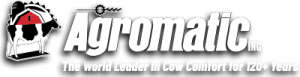 Agromatic Inc logo: The World Leader in Cow Comfort for 120+ Years!