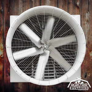 Agro Air Dynamics dairy barn fan (exhaust).