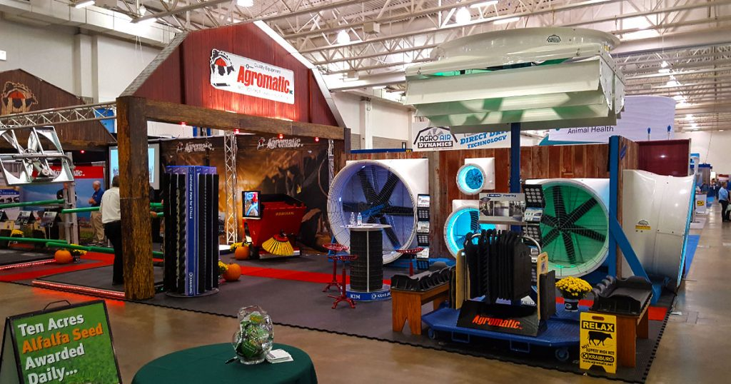 Agromatic & Agro Air Dynamics expo booth at World Dairy Expo 2018.