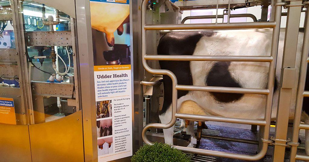 BouMatic udder health display at World Dairy Expo 2018.