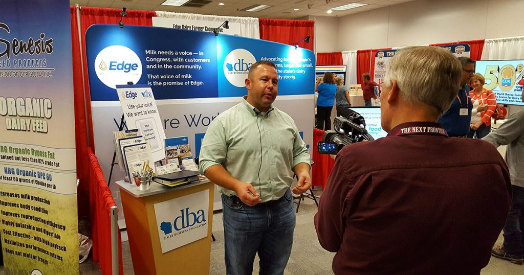 Dairy Business Association doing a media interview.