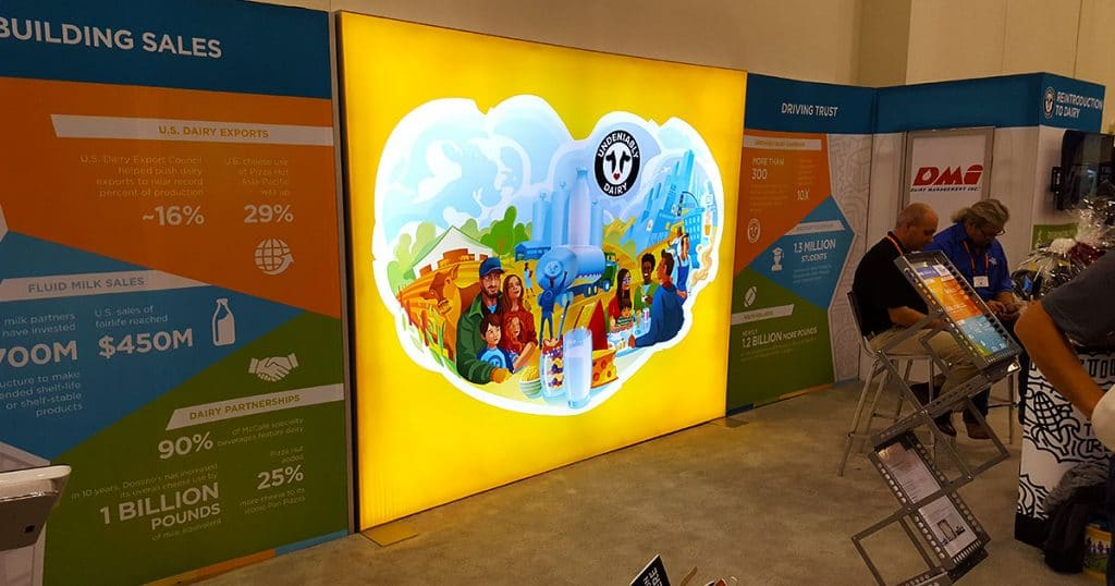 """Dairy Management Inc. """"Undeniably Dairy"""" booth."""