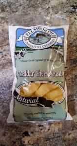 Ellsworth Cheddar Cheese Curds 12oz bag.