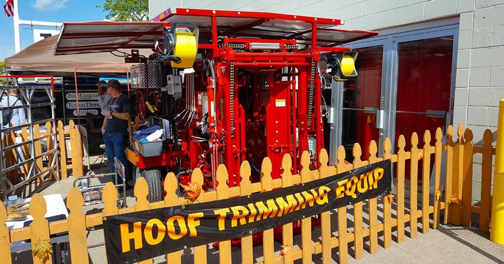 Hoof trimming equipment at World Dairy Expo 2018.