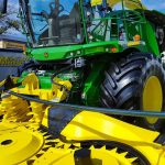John Deere forage harvester at World Dairy Expo 2018.