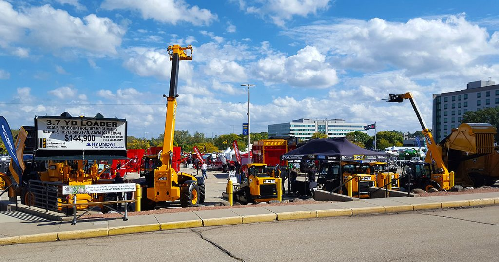 Outdoor Trade mall farm equipment at World Dairy Expo 2018.