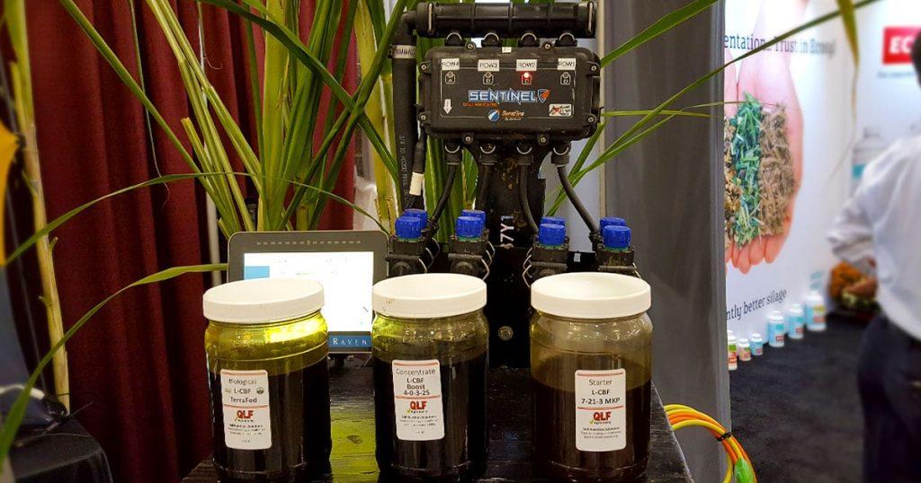 QLF: Quality Liquid Feeds sentinel display at World Dairy Expo 2018.
