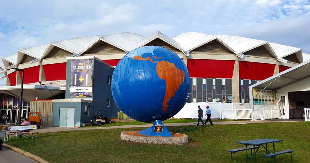 World Dairy Expo 2018 coliseum globe.