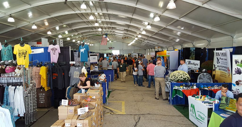 Inside the trade center building at World Dairy Expo 2018.