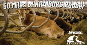 50 Miles of KRAIBURG Rubber at Riverview LLP dairy farm in Morris, Minnesota
